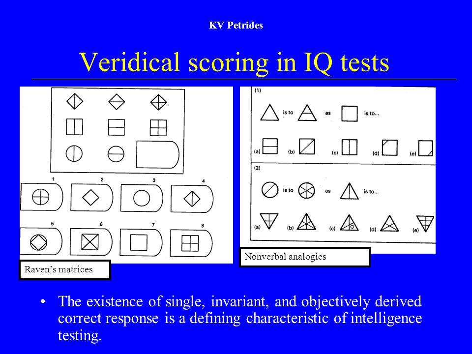 Veridical scoring in IQ tests