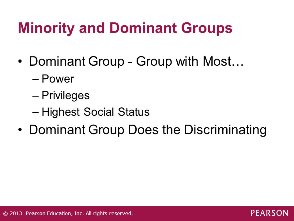 Minority and Dominant Groups