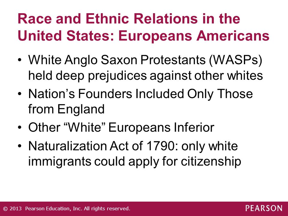 Race and Ethnic Relations in the United States: Europeans Americans