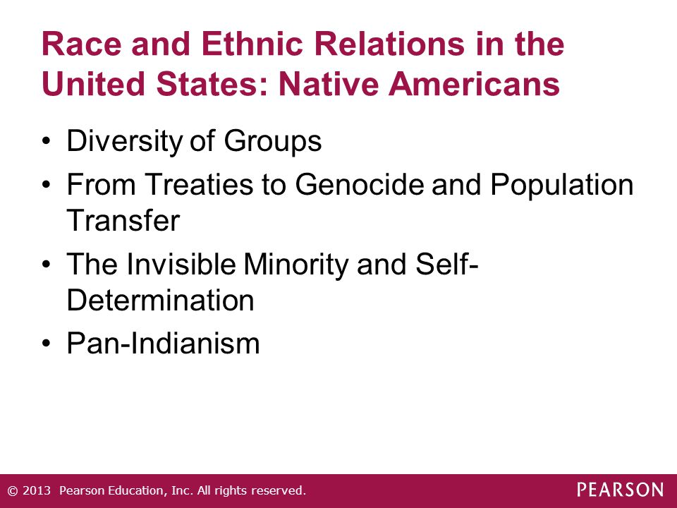 Race and Ethnic Relations in the United States: Native Americans