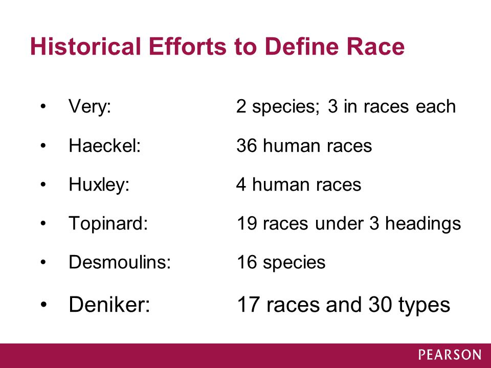 Historical Efforts to Define Race