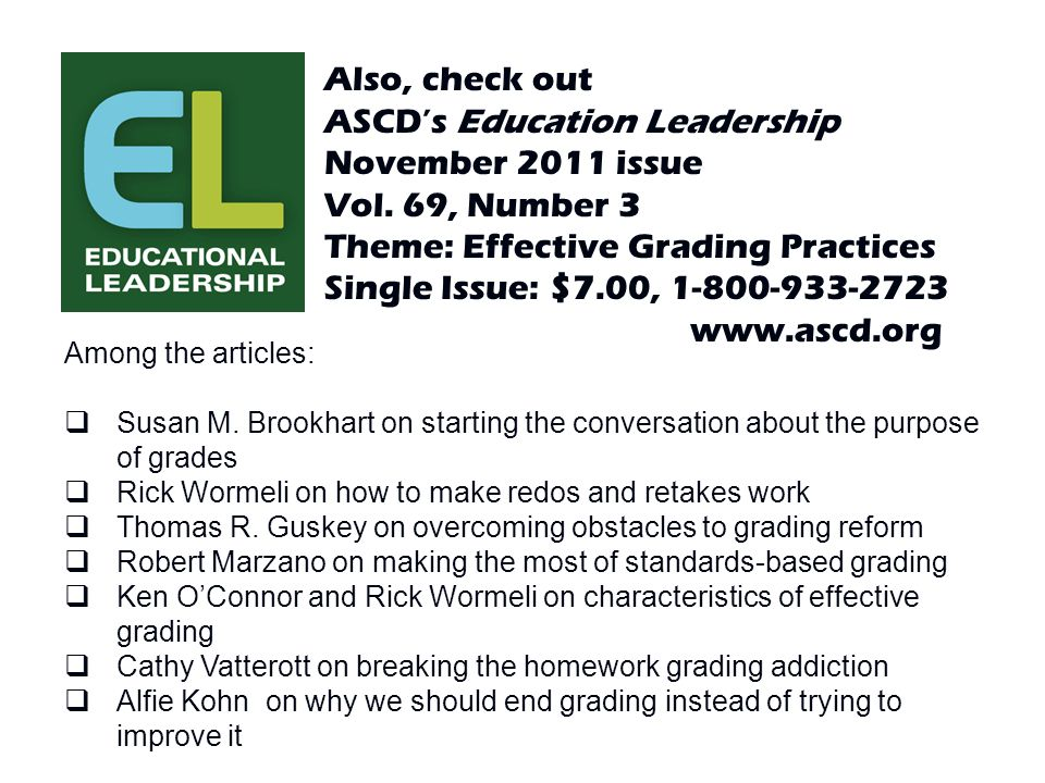 ASCD's Education Leadership November 2011 issue Vol. 69, Number 3