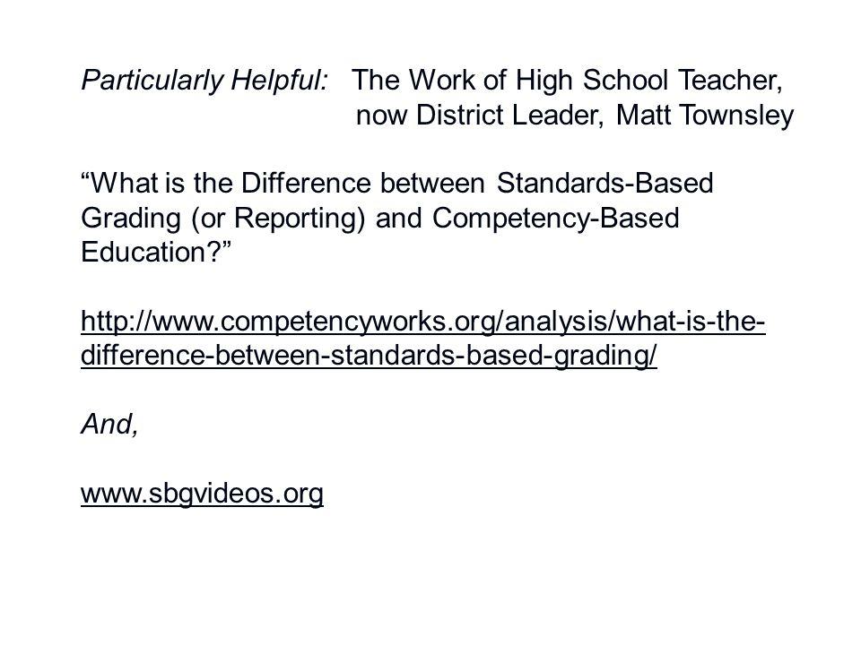 Particularly Helpful: The Work of High School Teacher,