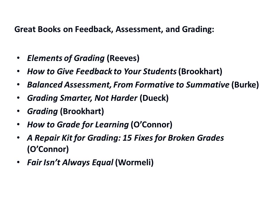 Great Books on Feedback, Assessment, and Grading: