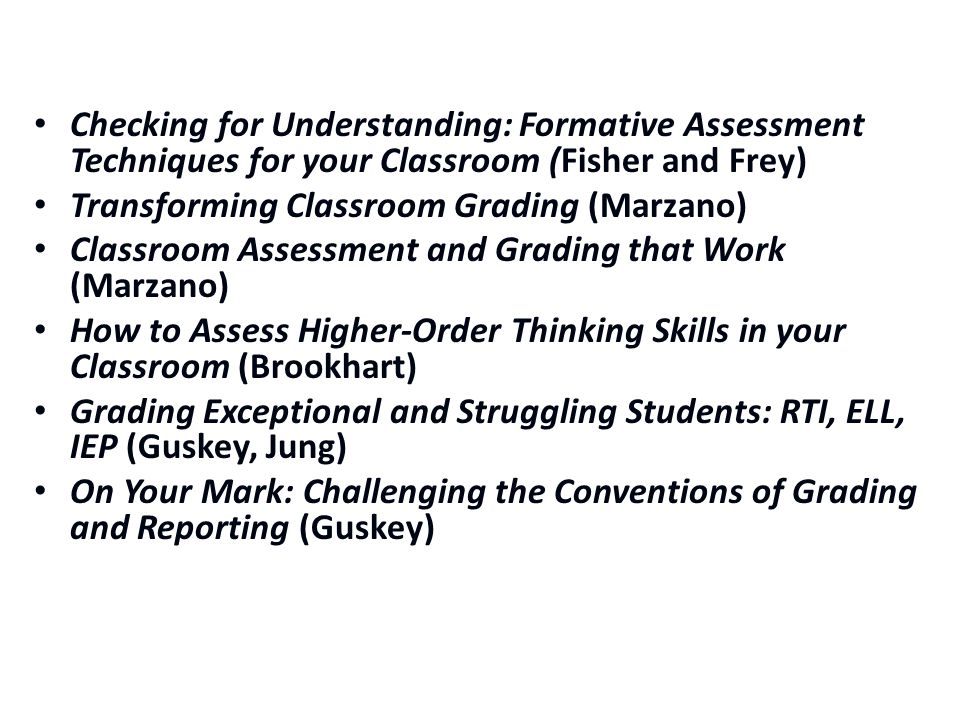 Checking for Understanding: Formative Assessment Techniques for your Classroom (Fisher and Frey)
