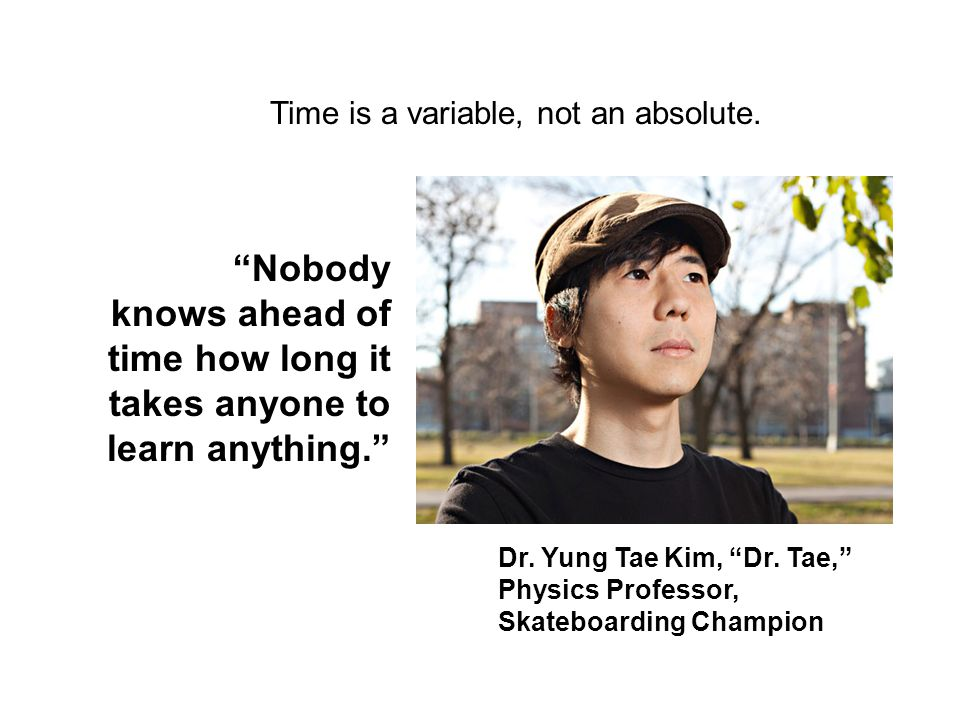 Time is a variable, not an absolute.