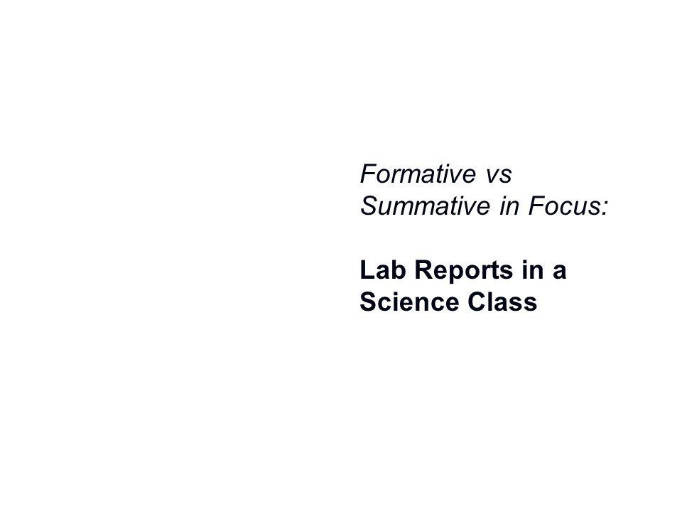 Formative vs Summative in Focus: