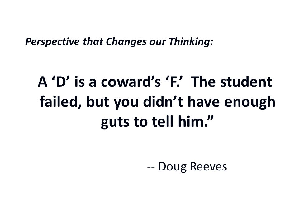 A Perspective that Changes our Thinking: