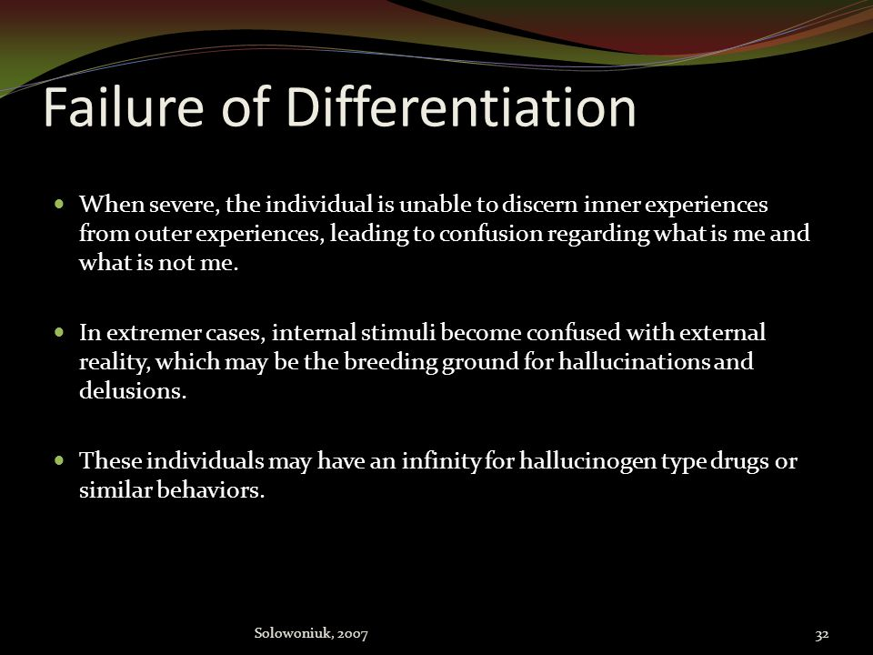 Failure of Differentiation