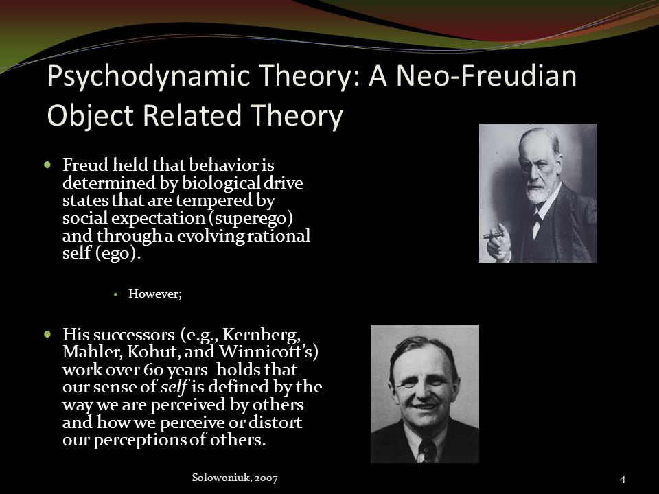 Psychodynamic Theory: A Neo-Freudian Object Related Theory