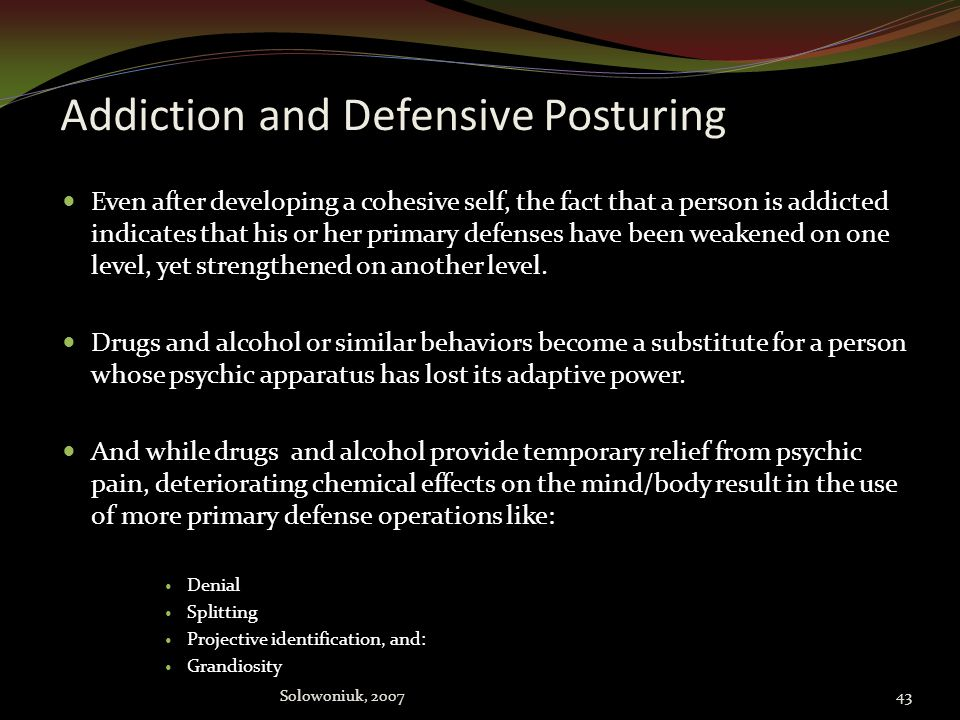 Addiction and Defensive Posturing