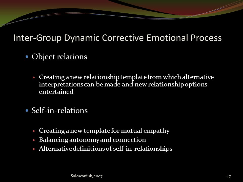 Inter-Group Dynamic Corrective Emotional Process