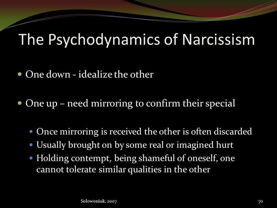 The Psychodynamics of Narcissism