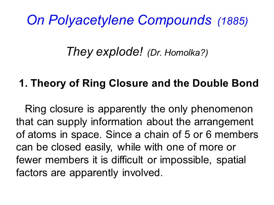 On Polyacetylene Compounds (1885)