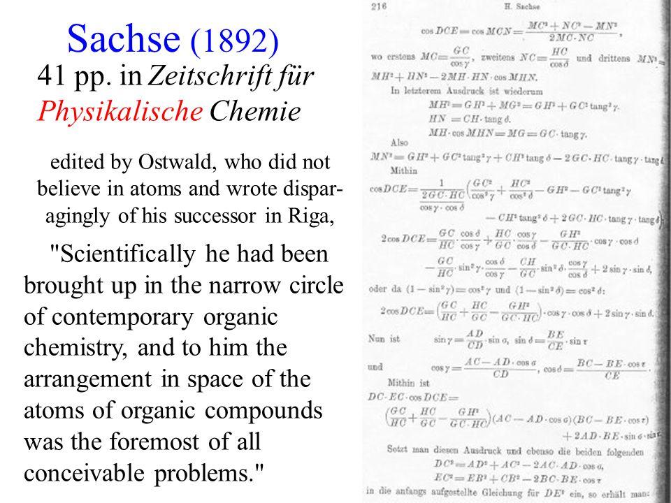 Sachse (1892) 41 pp. in Zeitschrift für Physikalische Chemie