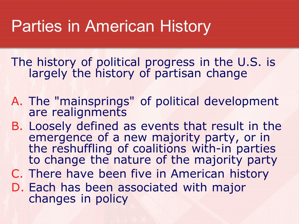 Parties in American History