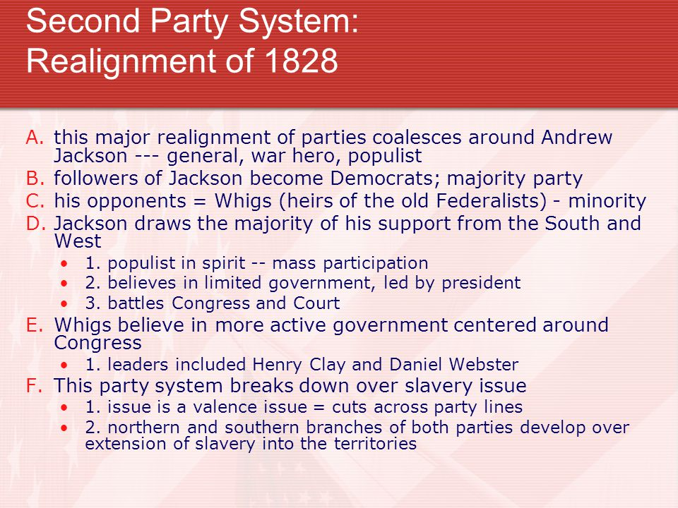 Second Party System: Realignment of 1828