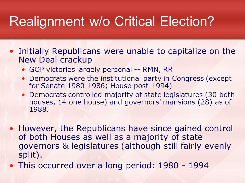 Realignment w/o Critical Election