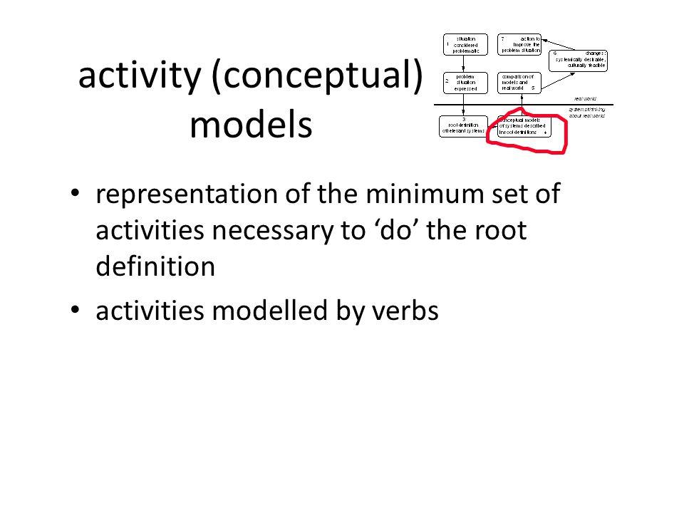 activity (conceptual) models