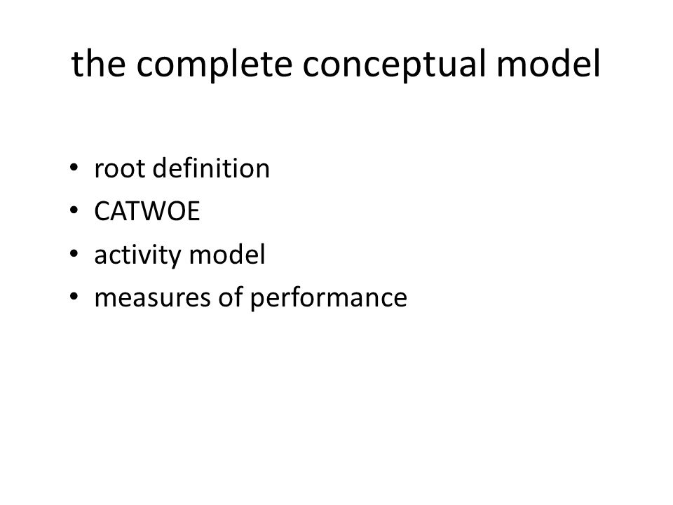the complete conceptual model
