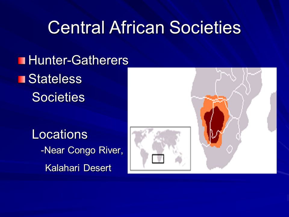 Central African Societies