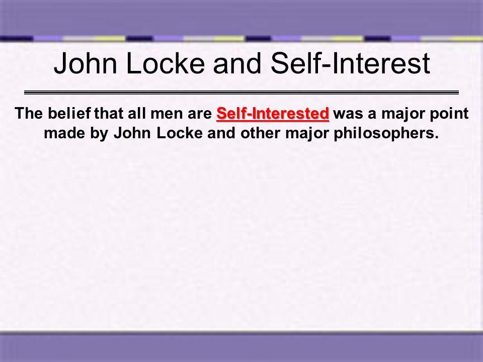 John Locke and Self-Interest