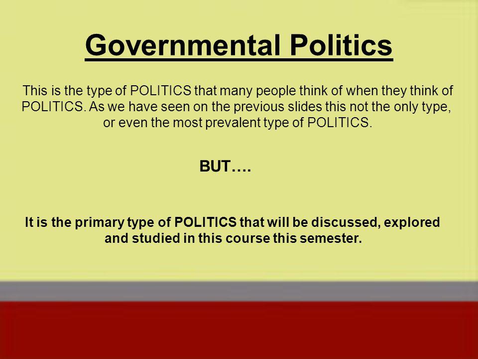 Governmental Politics
