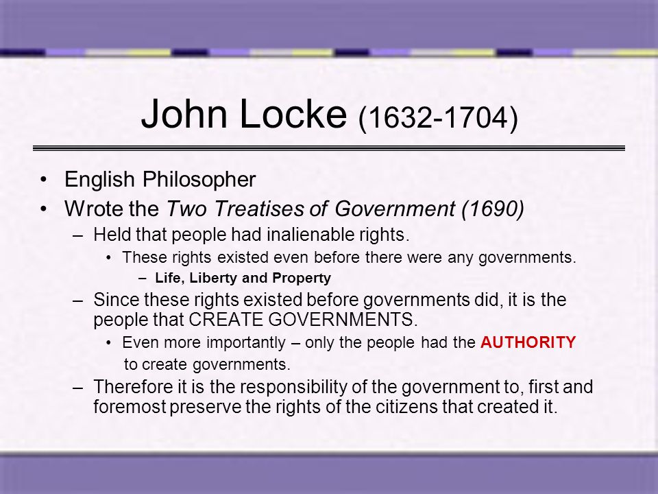 John Locke (1632-1704) English Philosopher