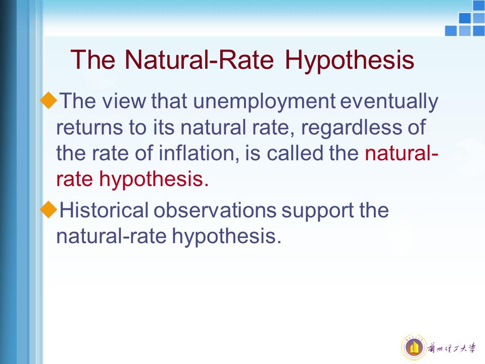 The Natural-Rate Hypothesis