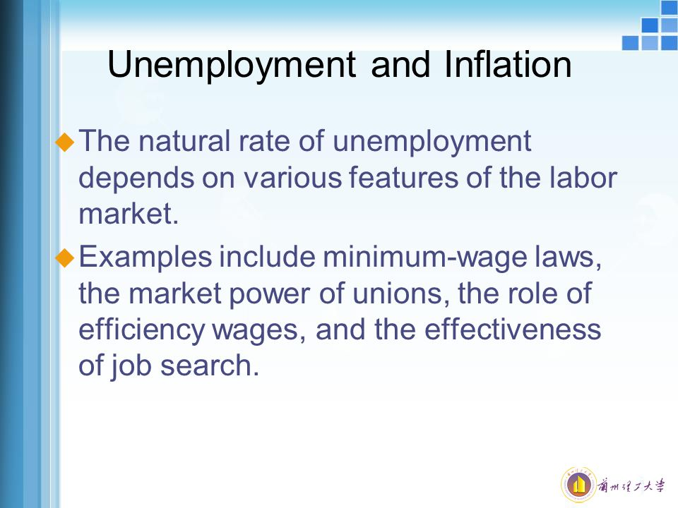 Unemployment and Inflation