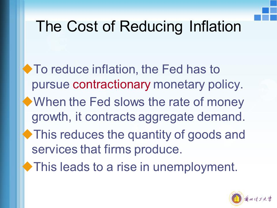 The Cost of Reducing Inflation
