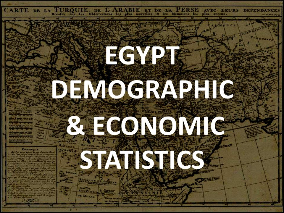 EGYPT DEMOGRAPHIC & ECONOMIC STATISTICS