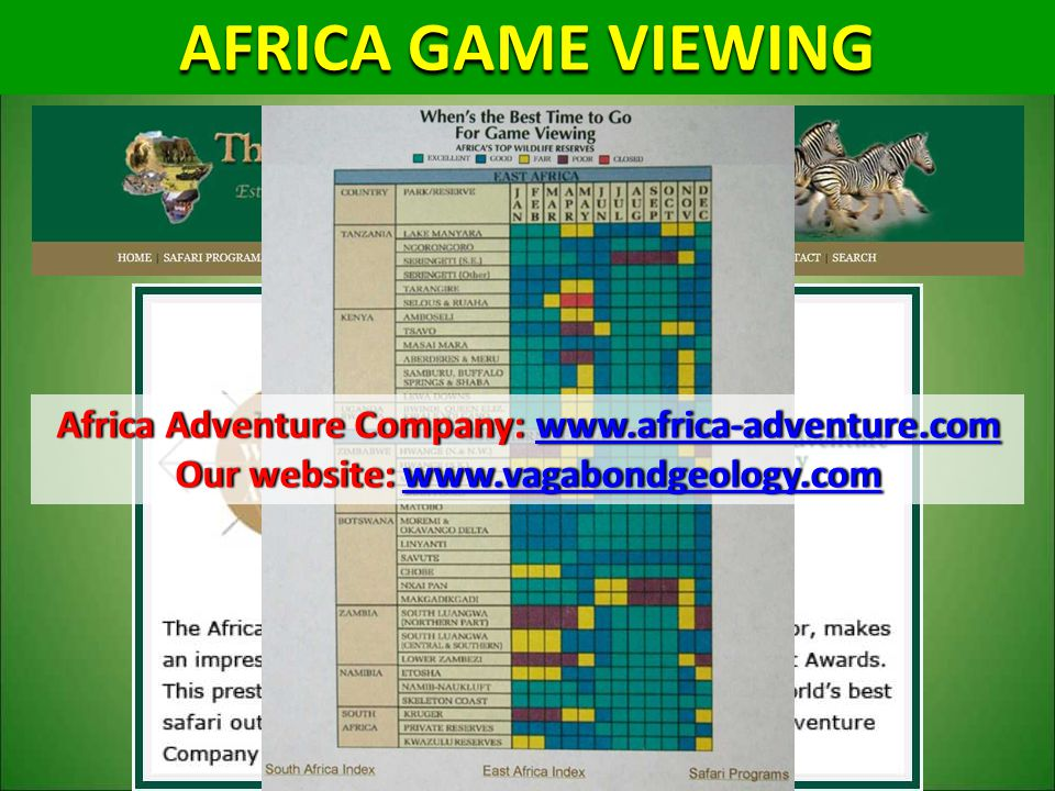 AFRICA GAME VIEWING Africa Adventure Company: www.africa-adventure.com