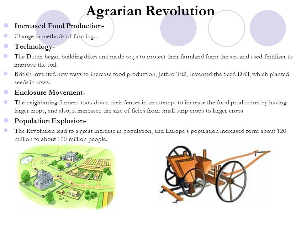 Agrarian Revolution Increased Food Production- Technology-