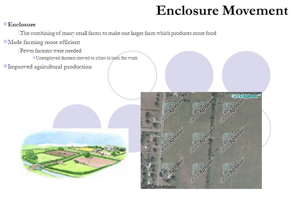 Enclosure Movement Enclosure Made farming more efficient