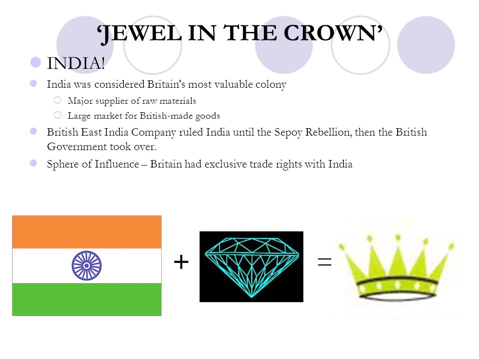 'JEWEL IN THE CROWN' INDIA!