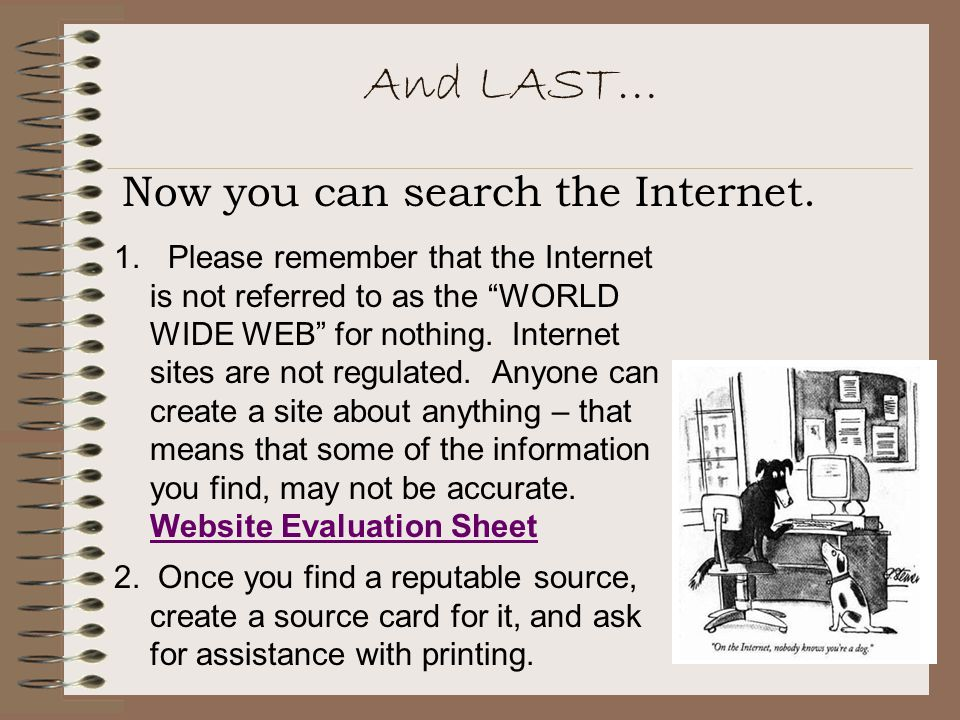And LAST… Now you can search the Internet.