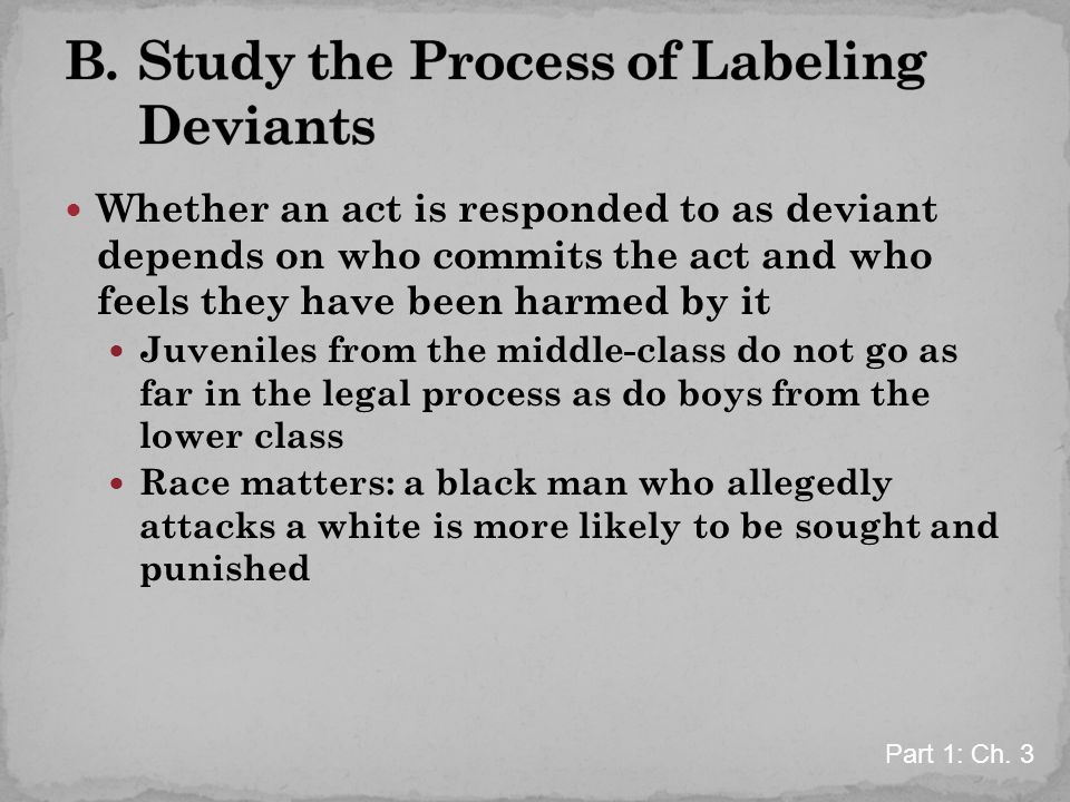 B. Study the Process of Labeling Deviants