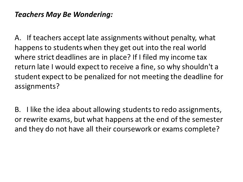 Teachers May Be Wondering: A