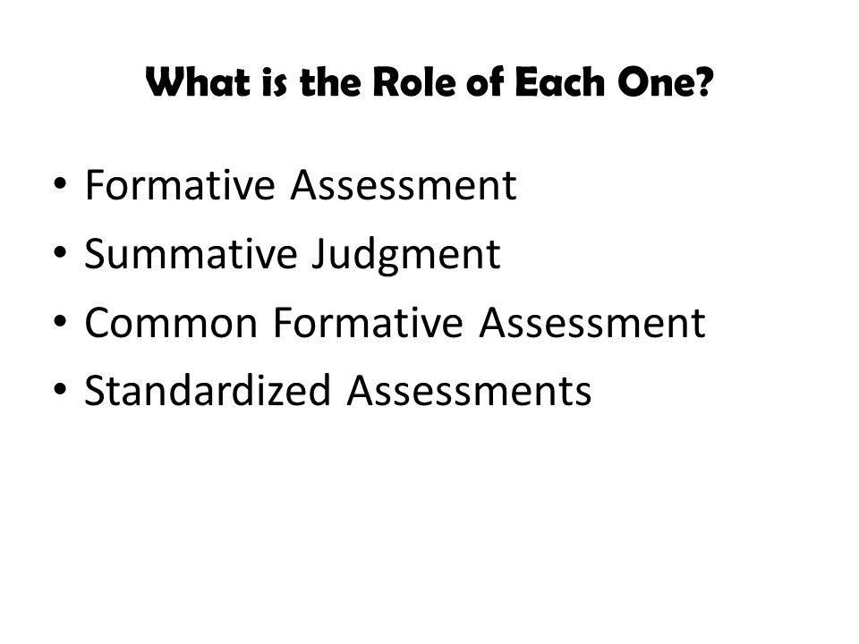 What is the Role of Each One