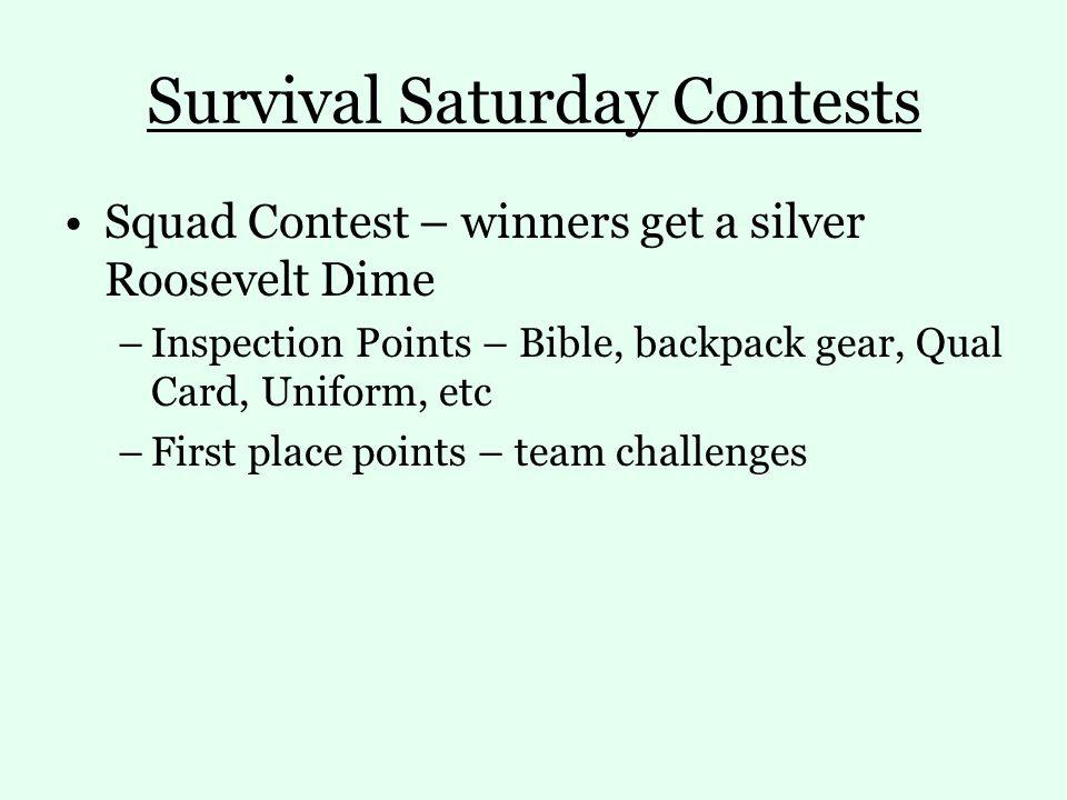 Survival Saturday Contests
