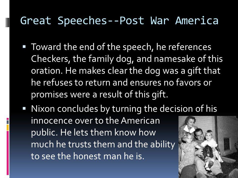 Great Speeches--Post War America