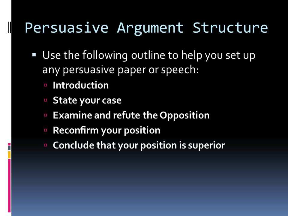 Persuasive Argument Structure