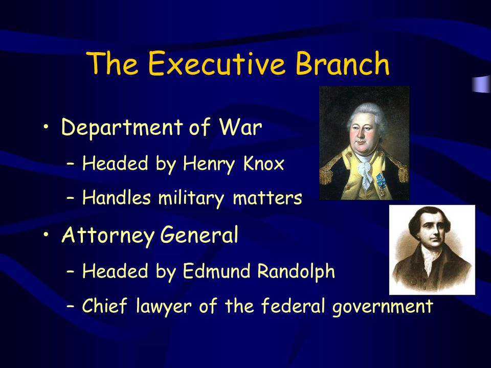 The Executive Branch Department of War Attorney General