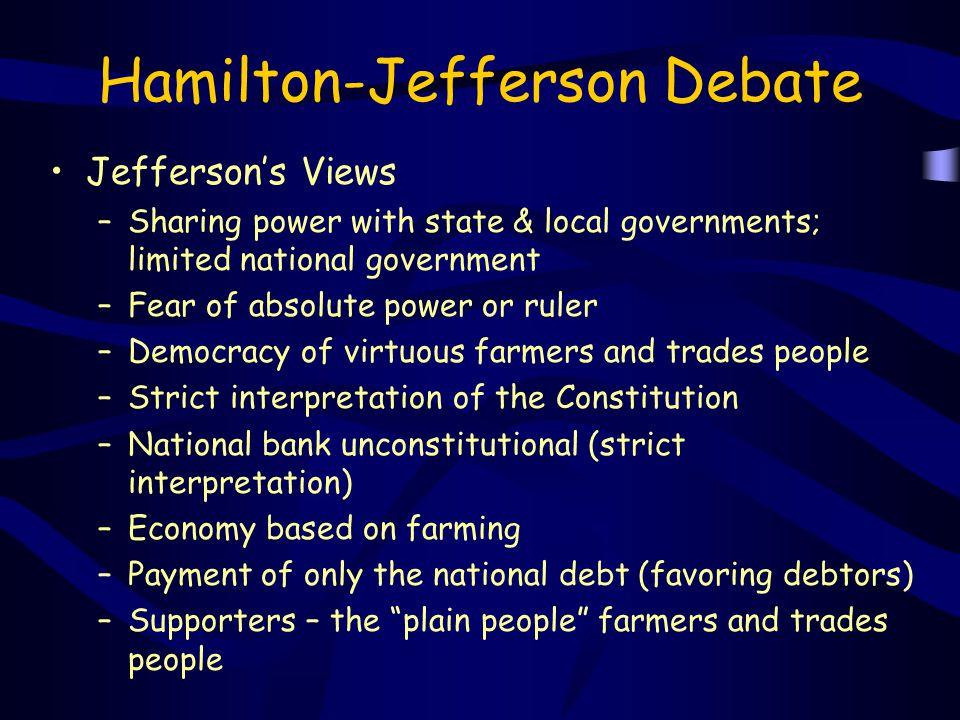 Hamilton-Jefferson Debate