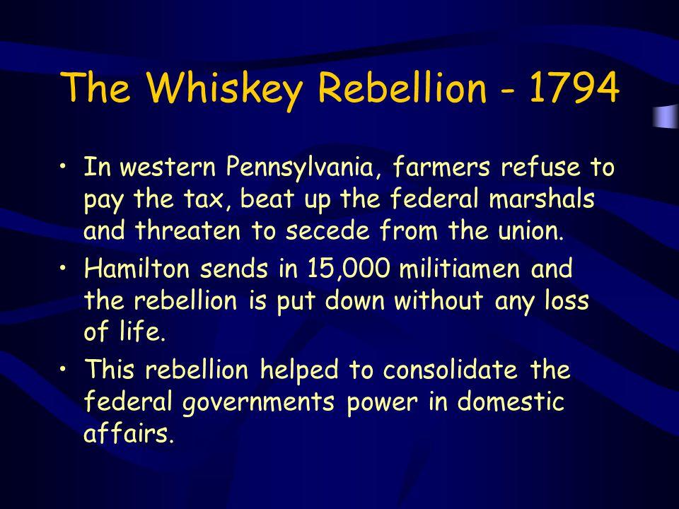 The Whiskey Rebellion - 1794