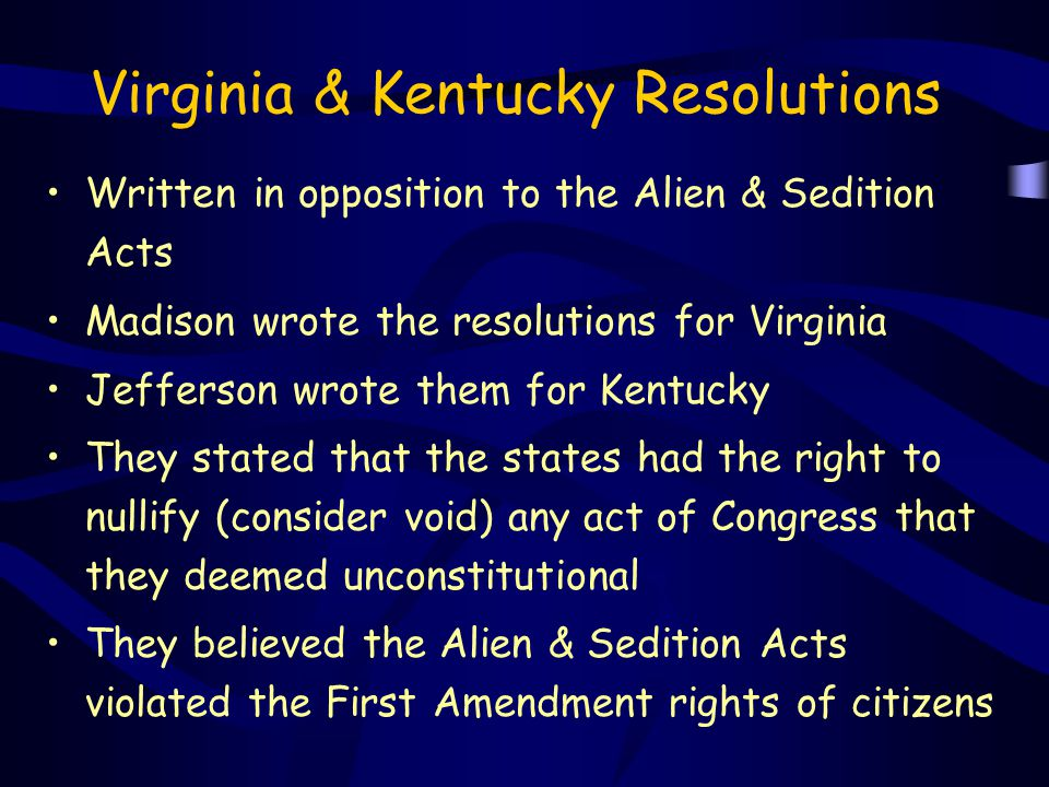 Virginia & Kentucky Resolutions