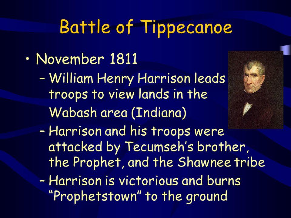 Battle of Tippecanoe November 1811
