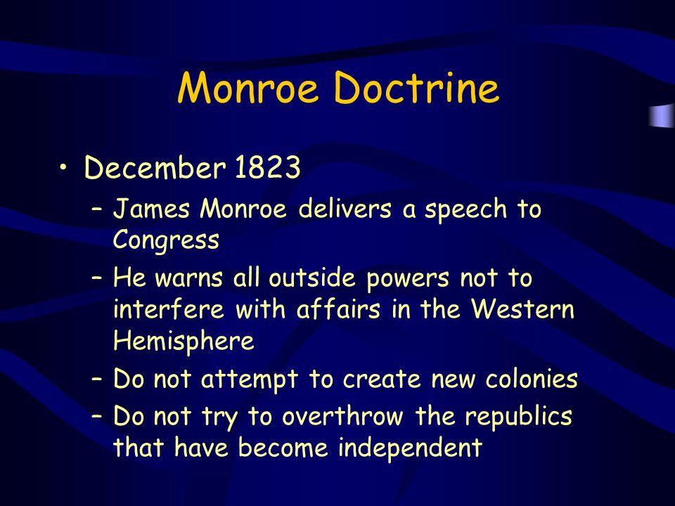 Monroe Doctrine December 1823