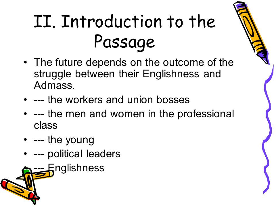 II. Introduction to the Passage